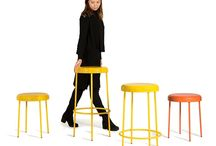 Chord by Mitab / Barstool and stool by Sanna Lindström for Mitab