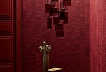 Leather wall | Lipstick red / Red passion! Leather tiles by Studioart www.studioart.it #design #architecture