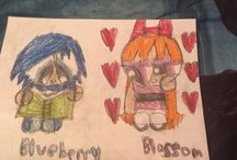 My Blossom and Maria  x Blueberry drawings / Blossom and Maria and Blueberry would be the smartest couples