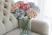 Blue How to decorate your room with artificial flowers / These pins are for flower deco lovers! featuring ideas from Pinterest and  Our Handmade Paper Flowers