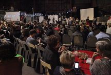 'Reel Food Nights' / Wildwon and the Youth Food Movement present #ReelFoodNights in the Food Connect Warehouse - a night where guests were invited to Watch. Eat. Think. - watch a film and disuss the future of #realfood and #farming in Australia.