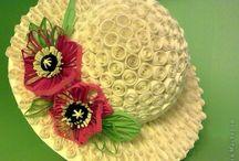 クイリング:作り方ー帽子