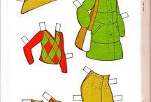 clothes,paper dolls