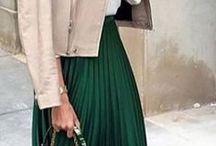 green midi scirt