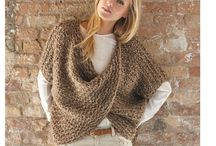 Ladies brown crossover sweater