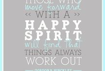 Those with happy spirits