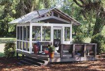 casinha de jardim