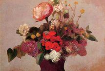 Odilon Redon flower art
