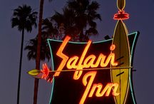 Retro Signs / I love signs from old mid-century businesses, especially neon! / by Joelle @HeyMoxie