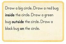 Positional words in kindergarten