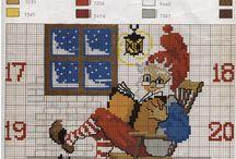 Cross stitch - Christmas / Vánoční výšivka