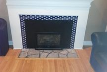 Fireplace & Hearth Design Inspiration / Beautiful fireplace & hearth designs you will love and the Susan Jablon tile that will give you the look!