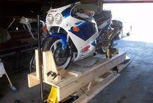 diy motorcycle wheel chock
