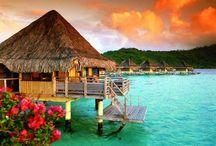 Tahiti / Tahiti, French Polynesia Everyone dream vacay (of course mine too) #Bora-bora #beach #honeymoon #sunset #coral #diving #romanticplace #swimsuit #dream