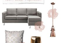 Spare room -grey, blush, copper