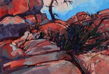 Red Boulders
