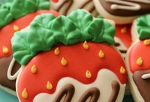 Chocolate covered Strawberry Cookies.