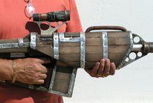 Steampunk weaponry