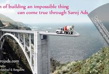 creative advertising agency in vizag / Dream of building an impossible thing can come true through Saroj ads.