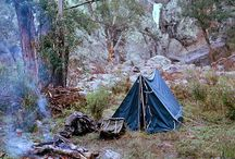 """camping  / Wilderness areas are first of all a series of sanctuaries for the primitive arts of wilderness travel, especially canoeing and packing. I suppose some will wish to debate whether it is important to keep these primitive arts alive. I shall not debate it. Either you know it in your bones, or you are very, very old.""""  ― Aldo Leopold, A Sand County Almanac / by o"""