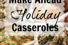Make ahead casseroles