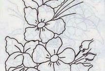 desenhos flores