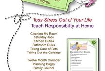 chores and organization systems and printables
