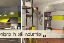 Urban studio interior design