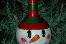 My gourd christmas craft