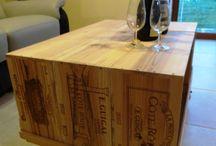 salle à manger en caisse à vins en bois / Fabriquer une table basse en caisse à vins en bois, une table de salon en caisses en bois