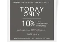 DrapeStyle Coupons / From time-to-time we offer great Coupon Codes and Special Offers to our Customers.  We make most, if not all of these Promotions available to our Pinterest Followers!    Re-Pin and Enjoy! / by DrapeStyle