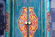 Indonesian Wood, Doors, Fabric, Batik / Inspiration design