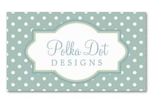 Business Cards : Polka Dot Designs  / some of these are designed by MarloDee Designs (me) and others are from other fabulous artists/designers ... click on the larger image (or website button at the top of the pin) to see how you can EASILY customize these business cards with your information, purchase tonight and get them in your mailbox in a few days!