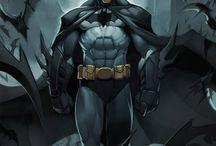 superheroes / http://www.creadictos.com/60-increibles-ilustraciones-batman/    60 buenas ilustraciones de este personaje....