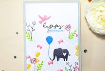 Pinkfresh Studio cards: Animals