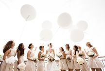Bride & Bridesmaids   Bouquets   White & Cream