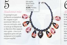 """""""Black Death"""" necklace featured @ YOU Magazine Dec. 2013 / """"Black Death"""" necklace featured @ YOU Magazine Dec. 2013  """"Black Death"""" Collection by Pericles Kondylatos Available to buy on-line @ Etsy e-shop: https://www.etsy.com/shop/PericlesKondylatos """"Black Death – Gypsy Cult"""" A jewelry collection - Homage to Goth & Gypsy culture."""