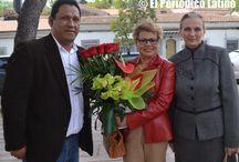 Ofrenda floral del CPB al busto del poeta César Vallejo