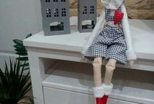 Vánoční skřítek Christmas Elf Tilda / Lovely Doll Puppets