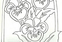 kwiaty witraż