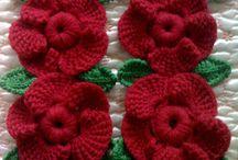 Rosas croché
