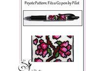 peyote-wzory na długopis i zapalniczki
