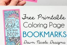 coloring pages and bookmarks