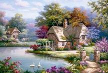 пейзажи -домики