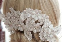How to use veils and hair pieces