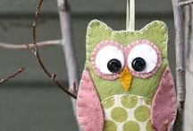OWLS     -   FABRIC/FELT / IDEAS OF OWLS