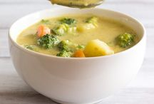 Potato soup,broccoli,cheese
