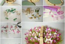 DIY Chocolate Flowers Basket