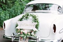 Coolest wedding cars / Awesome wedding cars to suit a watercolor themed wedding.