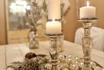 Merry Little Christmas / Magical Christmas ideas for our home, white, silver and lots of candles <3